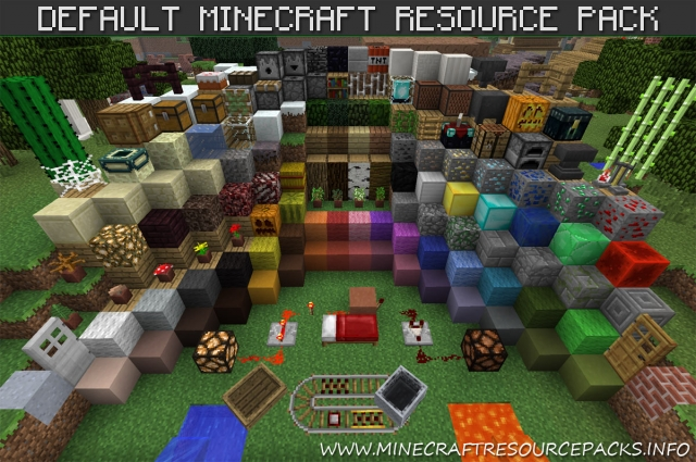 Default Minecraft Resource and Texture Pack